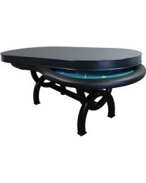 Pokertafel dining top grijs