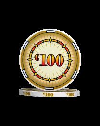 Ceramic pokerchips classics €100