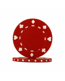 Pokerchips Suit rood