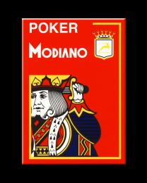 Modiano Poker Cristallo Rosso Plastica