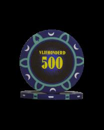 Pokerfiches toernooi vijfhonderd
