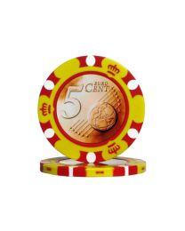 Pokerchips Euro ontwerp €0,05