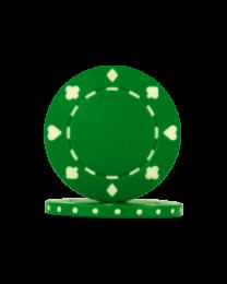 Pokerchips Suit groen