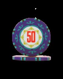 Pokerfiches Carta Mundi 50
