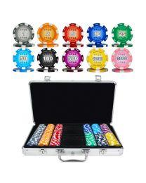 Pokerkoffer kleur chips 300