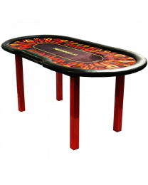 Pokertafel Flames