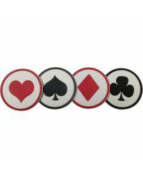 Casino onderzetters set van 4
