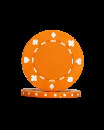 Pokerchips Suit oranje