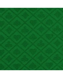 Suited Poker Speed Cloth Green