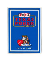 Plastic kaarten Modiano Texas Poker lichtblauw
