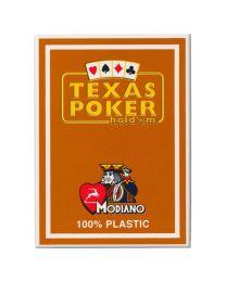 Plastic kaarten Modiano Texas Poker bruin