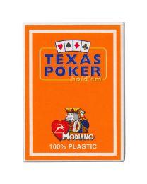 Plastic kaarten Modiano Texas Poker oranje