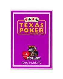 Plastic kaarten Modiano Texas Poker paars