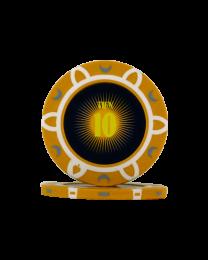 Pokerfiches toernooi tien