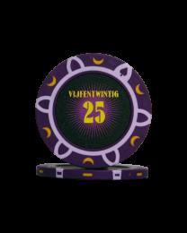 Pokerfiches toernooi vijfentwintig