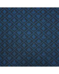 Two-tone suited speed poker speeltafel laken blauw