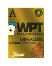 WPT Gold Fournier plastic poker speelkaarten rood