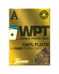 WPT Gold Fournier plastic poker speelkaarten blauw