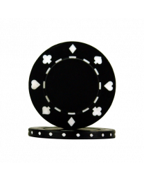 Poker chips Suit black