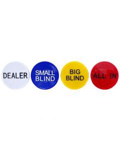 Set van 4 Dealer Buttons