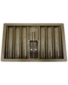 Metalen pokerchip tray met afsluitbare deksel