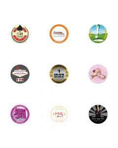 Pokerchips stickers eigen logo