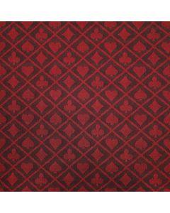 Two-tone suited speed poker speeltafel laken rood