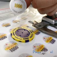 Custom stickers voor pokerchips