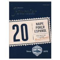 Fournier 20 Poker Speelkaarten Spanje Blauw