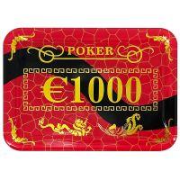 Casino poker plak €1000