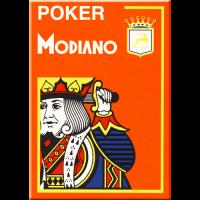 Modiano Poker Cristallo Arancio Plastica