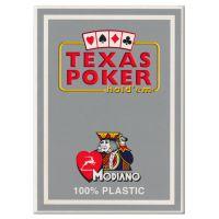 Plastic kaarten Modiano Texas Poker grijs