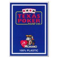 Plastic kaarten Modiano Texas Poker blauw