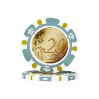 Pokerchips Euro ontwerp €0,20