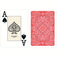 Plastic kaarten Modiano Texas Poker rood