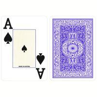 Plastic Poker Kaarten Piatnik Jumbo Index Blauw