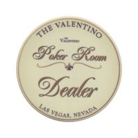 The Valentino Poker Room Dealer Button XL