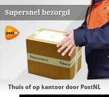 bezorgd met PostNL