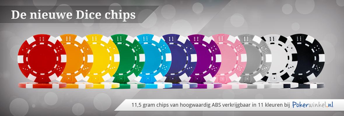 Nieuwe Dice pokerchips
